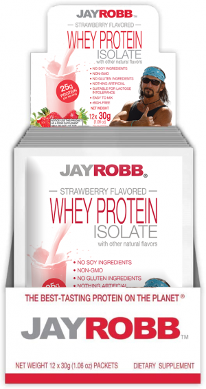 Whey Protein Isolate <br/> Strawberry – 12 Pack